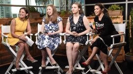 Chelsea Clinton, Lena Dunham, and America Ferrera at the DNC