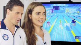 Ryan Lochte & Team USA Swimmers Play 'Mario & Sonic at The Olympic Games'