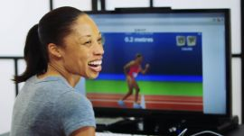 Allyson Felix and Team USA Runners Play Online Game 'QWOP'