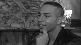 Balmain Designer Olivier Rousteing Prefers Bad Hair Over Bad Makeup