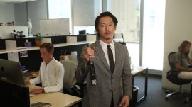 Steven Yeun's Guide to Surviving a Zombie Apocalypse (at the Office)