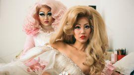 Drag Queen Kim Chi Gives a Supermodel a Makeup Transformation