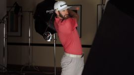 On Set with Dustin Johnson