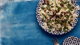 Cauliflower Salad With Mint, Pomegranates, and Nigella Seeds