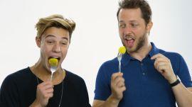 Cameron Dallas Eats Bugs, Chicken Feet & Other Weird Stuff