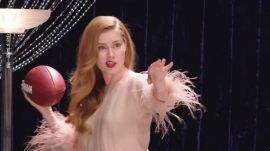 Amy Adams Teaches You How to Throw a Football (Sort Of)