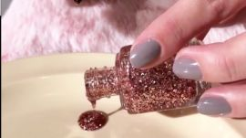 How to Get Glitter TEAR DROP Nails