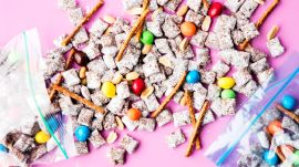 Puppy Chow with Pretzels and M&M's