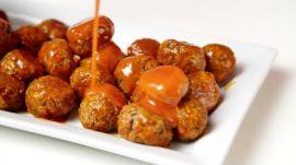 Vegetarian Buffalo Meatballs