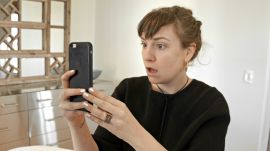 Watch Lena Dunham Test Drive the Brow Microblading Trend