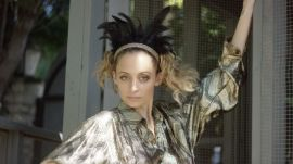 Nicole Richie Motivates Her Chickens for a Photoshoot