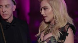 Madonna and Jeremy Scott on Her Army Chic Dress