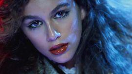 Kaia Gerber Models Marc Jacobs Beauty Enamored Hi-Shine Lip Lacquer