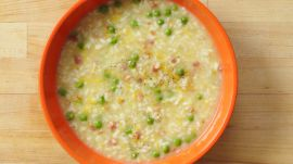 How to Make Risotto with Bacon and Peas