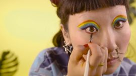 Get a Rainbow Cat-Eye Look In Under a Minute