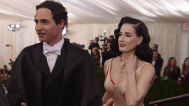 Zac Posen and Dita Von Teese at the 2014 Met Gala