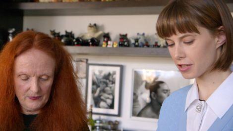 Grace Coddington at Home With Bart
