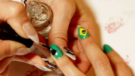 Brazilian Nail Design That's Muito Bonita