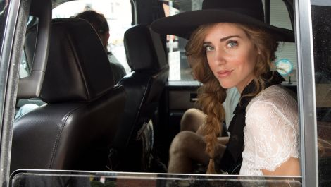 Front Row with Chiara Ferragni at the Zac Posen Runway Show