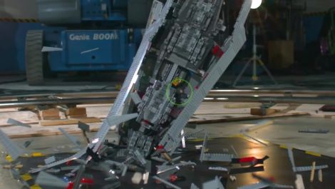 Giant Star Wars LEGO Super Star Destroyer Shattered