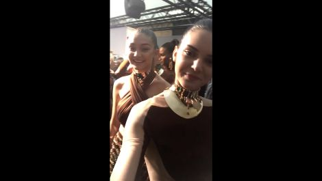 Watch Gigi Hadid, Kendall Jenner, Lily Aldridge, and More Break Down the Balmain Show and Party
