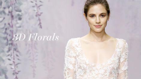 Fall 2016 Wedding Dress Trend: 3D Florals