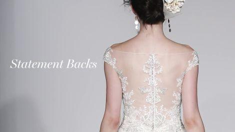 Fall 2016 Wedding Dress Trend: Statement Backs