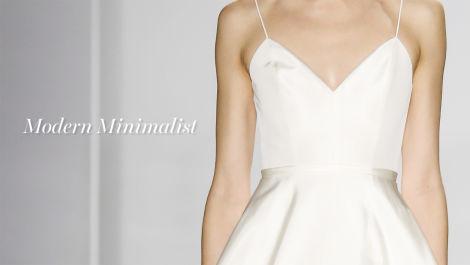 Fall 2016 Wedding Dress Trend: Modern Minimalism