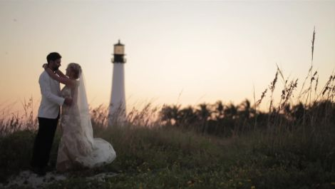 One Couple's Sunny Valentine's Day Wedding in Key Biscayne, Florida