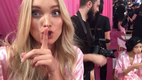 Vogue.com FaceTimes With the Victoria's Secret Angels