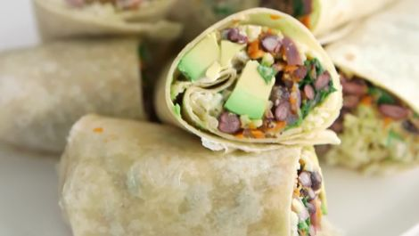 How to Make a Vegetarian Burrito in 22 Minutes