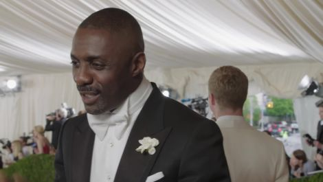 Idris Elba on James Bond, Creativity, and Coat Tails at Met Gala 2016