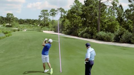 Rickie Fowler: The High Cut Over Trees