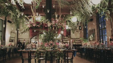 You'll Swoon Over the Florals at This Couple's Fall Wedding in Brooklyn