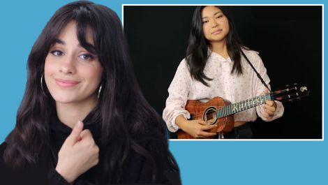 Camila Cabello Watches Fan Covers On YouTube
