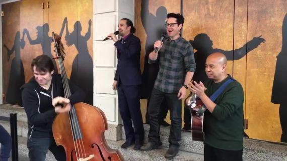 J.J. Abrams and Lin-Manuel Miranda Rap in Jabba the Hutt's Language