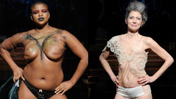 16 Women Walked Topless And In Lingerie In A Very Powerful NYFW Show