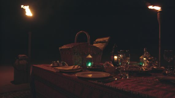 Have Dinner in the Dunes by Torchlight at Dubai's Al Maha