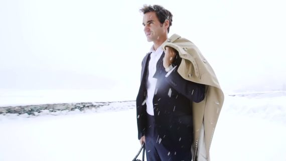 Roger Federer Shows You How to Dress for a Snow Day