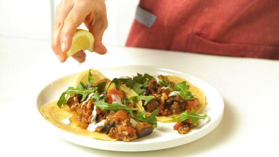 Chickpea Crêpe Tacos
