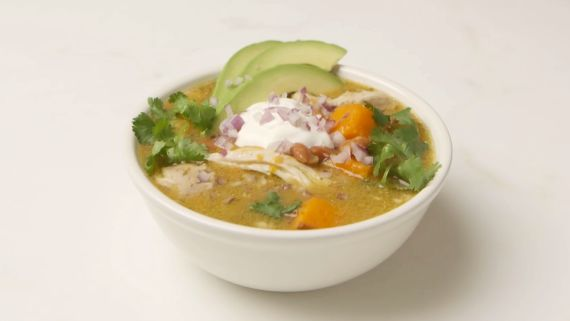 Slow-Cooker Green Chicken Chili