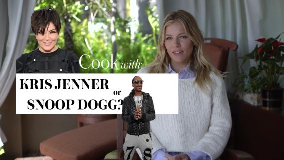 Sienna Miller Reveals If She'd Rather Cook With Kris Jenner or Snoop Dogg