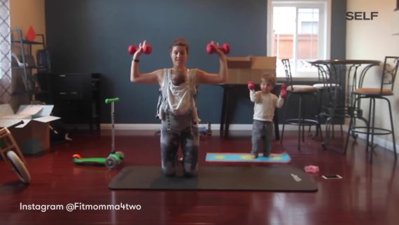 Watch This Mom Work Out With Her Little Ones