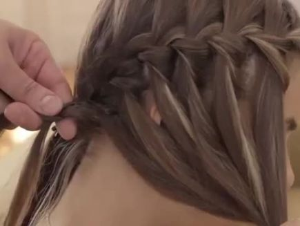 waterfall braid step by step instructions