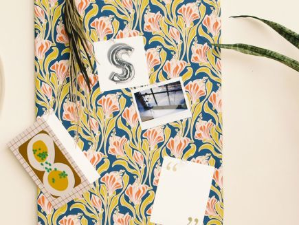Watch dorm it yourself how to make a fabric covered for Magazine boards fabric