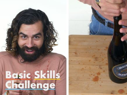 Basic Skills Challenge - 50 People Try to Open a Bottle of Wine