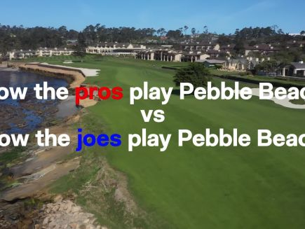 Major Championships - How the Pros Play Pebble Beach Vs. How the Joes Play Pebble Beach