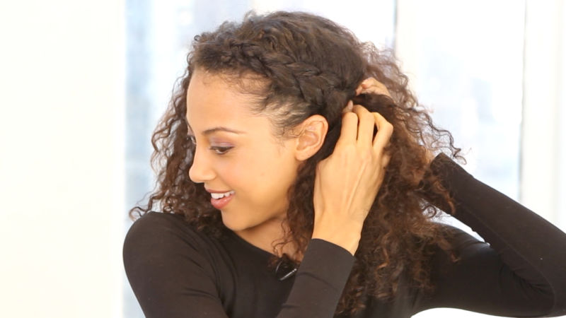 A Hairstyle How To For Curly Hair The Braided Updo