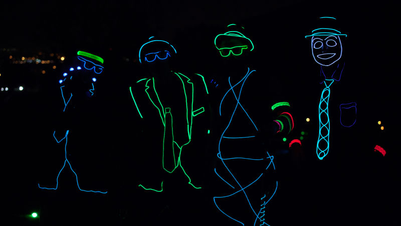 Watch Epic Trick Shots Insane Glow In The Dark Trick