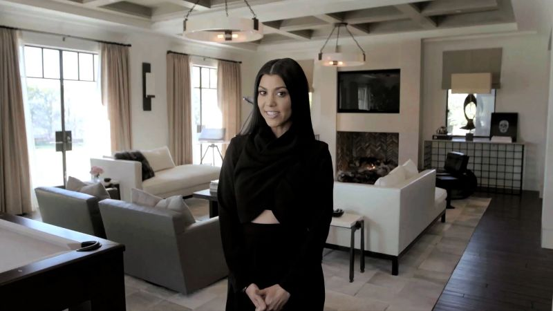 Watch cover shoots inside kourtney kardashian 39 s home for - Kourtney kardashian kitchen chairs ...